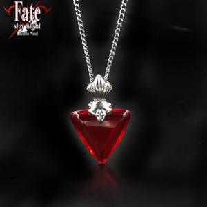 Schicksal bleiben Nacht Halskette Tohsaka Rin Cosplay Exquisite rote Tohsaka Halsketten Schmuck Frauen Geschenk Accessoires Anhänger rot Luxus Halsketten