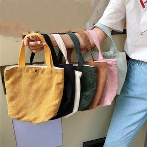Clyine Moda El Tipi Mini Kadife Çanta Katı Renk Alışveriş Çanta Bayanlar Vintage Bez Casual Omuz Kepçe Çantası 8 Renk