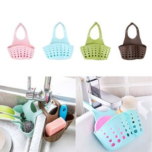 5pcs Kitchen Tools Organizer Adjustable Snap Sink Soap Sponge Kitchen Accessories Hanging Drain Basket Gadgets-S
