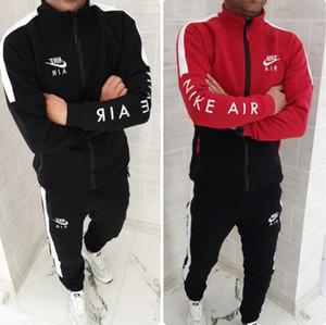 Uomini Designers Tute Cardigan Giacche con cappuccio Felpe pantaloni lunghi tute vestiti casuali di stampa attivi 2 PCS Mens Abbigliamento