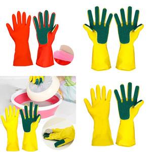 Gants de nettoyage pour la maison Gants de nettoyage pour la maison Spone Finger Ginger Rubber Spoon Gants Ménage à la cuillère 2pcs / lot WX9-1190