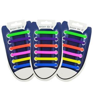 12Pcs Set Creative Shoelace Unisex Women Men Athletic Running No Tie Shoelaces Elastic Silicone Shoe Lace All Sneakers 13 Colors