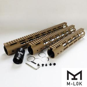 10,12,15 дюймов M-Lok Handguard Light Design подходят AR15 (.223 / 5,56) TAN цвет Alunimum бочонок гайка