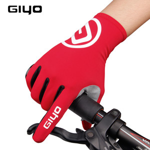 GIYO Touch Screen Long Full Finger Gel Guanti da ciclismo Sport MTB Road Bike Riding Guanti da corsa Donna Uomo Bicicletta Han