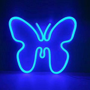 Blue Butterfly Neon Sign 19