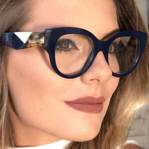 Erkek Kadın Lüks Tasarımcı Güneş Moda Büyük Çerçeve Düz Ayna Kadın Kalite Çerçevesi Gözlük Miyop Gözlükler ile donatılmış Olabilir