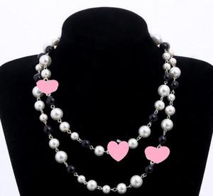 Diseñador largo suéter cadena collar maxi collar simulado perla flores collar mujeres joyería de moda bijoux femme regalos de navidad