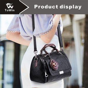 Brand New Sling Bags Moda Mujer Bolso de Hombro Dama Sólido Bolso de mano Estilo Europeo Americano Boston Bolsa Monedero Crossbody Bolsa Monedero