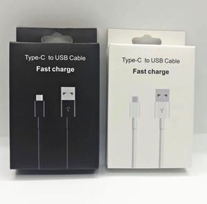 1.2M 4FT Typ-C-USB-Ladekabel Synchronisierungs-Daten-Typ-C-Ladegerät Original-OEM A +++ Qualität für Samsung S8 S9 S10 LG G5 Google mit Kleinkasten