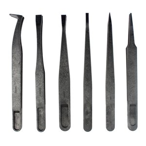 JF-S6in1 6 in 1 Anti-static Carbon Fiber Straight and Curved Tip Tweezers