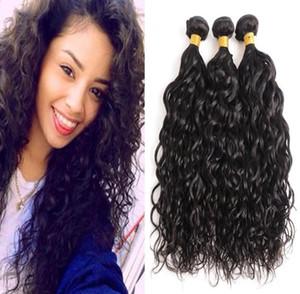 Atacado Cabelo Humano Water Wave Pacotes brasileiro Pacotes Virgin Extensões de cabelo humano Remy Pacotes baratos os pêlos
