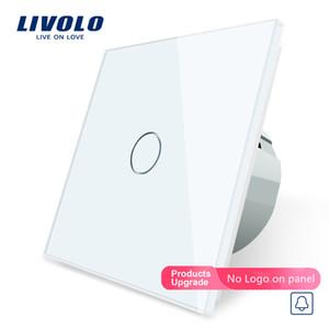 LIVOLO padrão da UE, Switch Porta Bell, Crystal Glass interruptor do painel, 220 ~ 250V Touch Screen Campainha Switch, C701B-1/2/3/5, nenhum logotipo Y200407