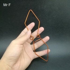 Novelty Gag Jade Shape Red Copper Wire Puzzle Hand Made Toy