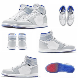 Cheap sale 2020 new 1 Zoom High Racer Blue culture retro basketball shoes Blue-white CK6637-104 casual sneakers shoes size 36-46