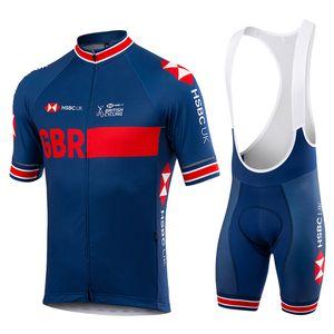Tour de France 2021 Pro Team GB Jersey Jersey Set Hommes / Femmes Summer Summer Manches courtes Vêtements de vélo Shorts de bretelles Ropa Ciclismo