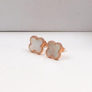 trevos Atacado-f pequenas multi-cores single-flor brincos de com brincos de aço titânio acessórios simples de estilo para Ms. Fritillary