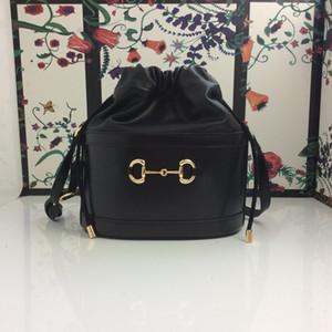 2020 Moda Luxo Bucket Bag Design Único quarto Saco de Luxo Couro Projeto Bolsa Tecido Moda impressão Modelo de alta qualidade: 602118