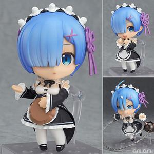 Anime Re: La vita in un mondo diverso da zero Nendoroid 663 Blue Rem 732 Red Ram Kawaii Cute Action Figure Giocattoli 10cm T190912