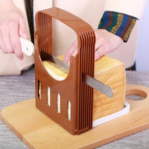 Newly Toast Bread Slicer Plastic Foldable Loaf Cutter Rack Cutting Guide Slicing Tools Kitchen Accessories