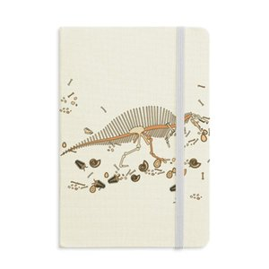 Dinosaur Grass Bone Bones Notebook Fabric Hard Cover Classic Journal Diary A5