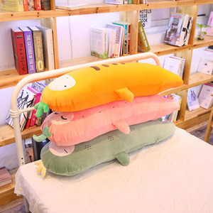 Long Fruits Doll Pillow Elastic Soft Bolster Down Cotton Plants Strawberry Pineapple Carrot Cactus Overnight 70 100 140cm