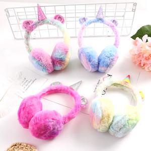 2018 inverno bonito infantil crianças earmuffs unicórnio earmuffs plush warm ear protection bag vendas direto da fábrica