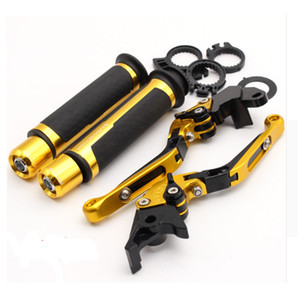 Motorcycle Adjustable Folding Brake Clutch Levers Handlebar Hand Grips For Yamaha YZF R6 2005-2016