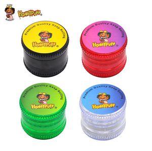 4-Layer Plastic Smoke Grinder Color Mixed Creative Smoke Crusher