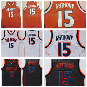 NCAA College Syracuse Orange University 15 카메론 앤서니 저지 남성 농구 오렌지 화이트 블랙 팀 컬러 통기성 최고 품질