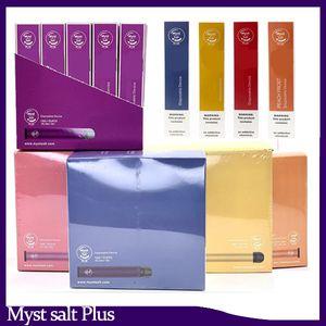 100% Original-Myst Salz plus Einweg-Gerät 650mAh Akku + 1000 Puffs 3,2 ml 10 Farben Keine Wartung 0.268.153 Lade