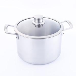 Cocina casera de titanio para cocinar caldo de sopa para la venta de 26 cm Puro de titanio saludable sin recubrimiento utensilios de cocina antiadherente caldo para sopa