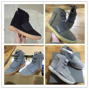 Mens 750 Blackout Outdoor Sneaker, scarpe Kanye West Hot Tubing Tubular Invader caldo 750, Scarpe da skateboard, Sneakeheads Scarpe High S