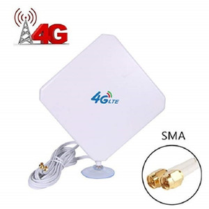4G LTE Antena SMA Antena 35dBi antena de alta ganancia con ventosa Dual Mimo SMA Conector macho 3G / GSM WiFi Amplificador de señal para T200608
