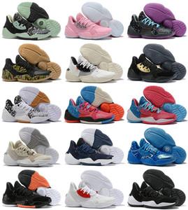 2020 New Harden Vol.4 баскетбольная обувь высшего качества мужская обувь james Vol 4 выведенные кроссовки черный белый оранжевый Мужские спортивные тренеры Size40-46