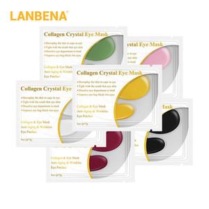 LANBENA 1 Çifti Kristal Kolajen Göz Maskesi Göz Yamalar Göz Pedleri Onarım Koyu Circles Jel Maske kaldır