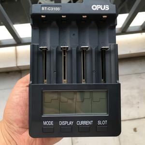 100% Original Opus BT-C3100 Carregador de Bateria Universal Carregadores de Baterias de Lítio Para Sony VTC5A VTC6 18650 26650 20700 18350 14500 14650