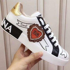 Dolce & Gabbana D&G 2020o lüks ısmarlama erkek ve kadın grafiti el boyaması gündelik spor ayakkabıları, şık ve kişilik parti ayakkabı yönlü, boyut: q3