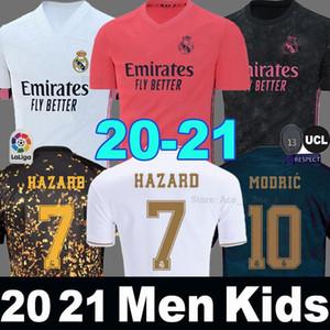 레알 마드리드 유니폼 (20) (21) 축구 유니폼 위험 세르히오 라모스 EA 스포츠 camiseta 드 푸 웃 2020 2021 벤제마 남성 + 어린이 키트 세트 축구 shir