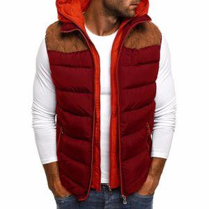 Sin mangas Zogaa 2019 Hombres Otoño chaquetas de invierno gruesos chalecos hombre abrigos masculinos cálido algodón acolchado chaleco de los hombres Gilet Hommes Veste