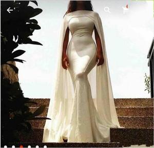 Bela Celebridade Vestidos De Noite Sereia 2019 Novo com Cabo Árabe Simples e Elegante Sem Mangas Até O Chão Prom Vestidos