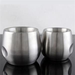 Edelstahl Anti Verbrühung Kaffeetasse Doppeldeck Verdickung Wasserbecher Einfache Mode Milchglas Heißer Verkauf 20gs Ww
