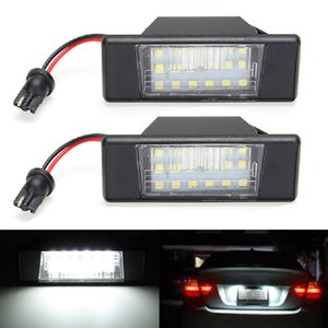 2PCS Car 18 LED License Plate Lights LED Light Lamp White For Nissan Qashqai X-trail Juke Patnfinder R51