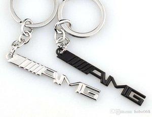 10pcs lot Car Key Ring Key Chain AMG Badge Car Emblems For Mercedes Benz A45 SLS AMG E63 Key Holder Auto Accessories Car Styling