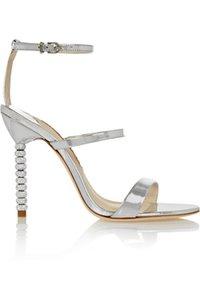 2020 dames en peau de mouton ouvert orteils chaussures diamant talons hauts Escarpins strass Sophia Webster sandales 34-42