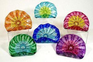 Bulk Dekorative Klarglasplatten Wandbehang Murano Borsilicatglasplatte türkischen Murano Blumen-Glasplatten geformt