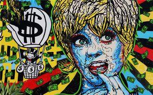 أليك الاحتكار زيت على قماش اللوحة الفن الحضري جدار ديكور الطائر بالون جدار الفن ديكور المنزل باليد HD طباعة على معيشة 191013