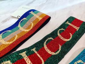 headbands projeto de letra Elastic para mulheres e homens Itália marcas tiaras coloridas bandas de cabelo Outono Inverno headwraps Gota sihpping