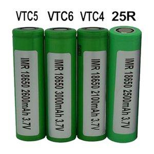 300pcs 100% High Quality INR 25R VTC4 VTC5 VTC6 18650 Battery 2500mAh 3000mAh 3.7V Rechargable Lithium Batteries Cell