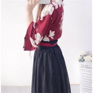 00nJe 2019 summer girl ballad between flowers style ancient Costume ancient costume Han clothing Han element improvement cross collar Chines