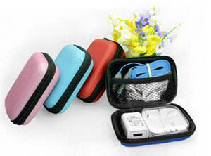 Cute portable data line mobile phone line headphone box storage pack sorting bag change zipper bag BG239